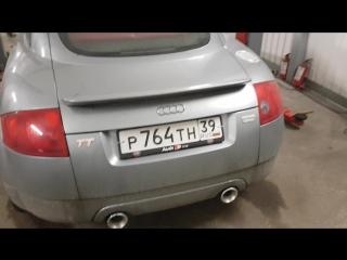 Audi TT - Удаление катализаторов, установка пламегасителей, эмулятора, глушителя и насадки Buzzer zz100х-МИР ГЛУШИТЕЛЕЙт37-38-98