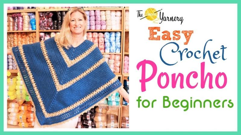 Easy Crochet Popcorn Poncho for Beginners
