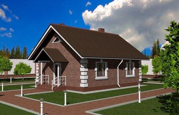 Проект каркасного дома 75м2
