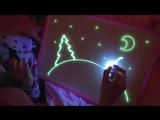 Рисуй светом набор для рисования в темноте.mp4