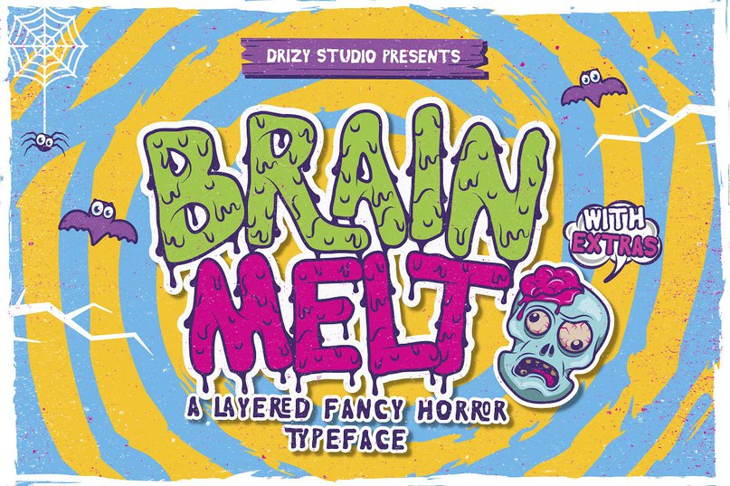 Шрифт - Brain Melt