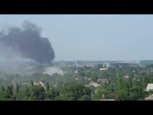 26 мая 2014. Донецк. Обстрел аэропорта в донецке вертолетом 26.05.2014 ( 150) air atack on Donetsk airport