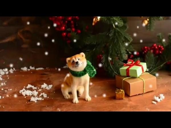 Interior toy Christmas Akita