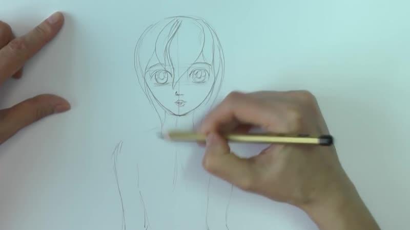 Уроки рисования. Как нарисовать АНИМЕ