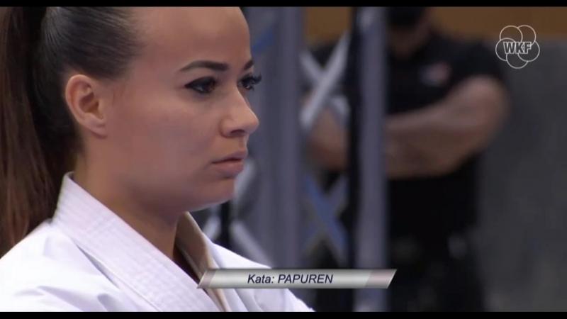 Бронзовый финал женского ката German Open 2018: Мириса Охучи (Япония) - Вивиана Боттаро (Италия)