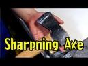 ハスクバーナのキャンプ用斧を研ぐ【How To Sharpen An Axe With A Whetstone】