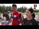 Японские биатлонисты проводят сборы на базе Новополоцкого училища Олимпийского резерва август 2018