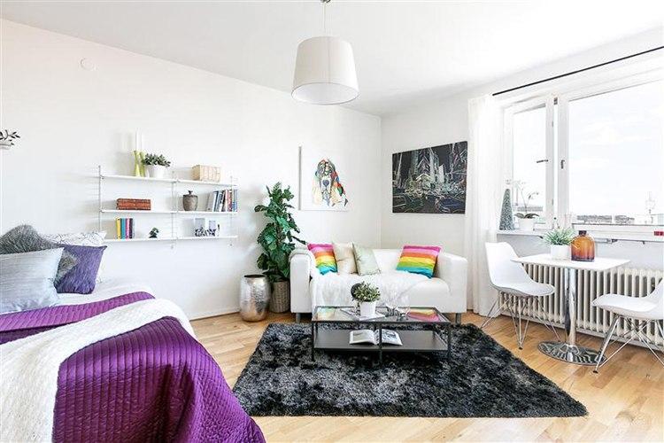 Квартира 24 м в Стокгольме / Швеция с кухней в нише.