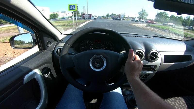 2011 Renault Logan 1.6 MPI BLACK LINE POV Test Drive