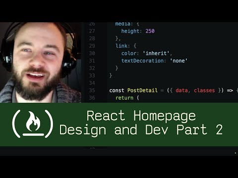 React Homepage Design and Development Part 2 (P5D34) - Live Coding with Jesse