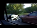 Фура обгоняет Tesla Model X P90D и BMW M5 F10 на 170 км ч (Оригинал)