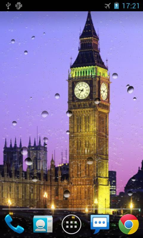 Анимированные обои Rain Drops для android
