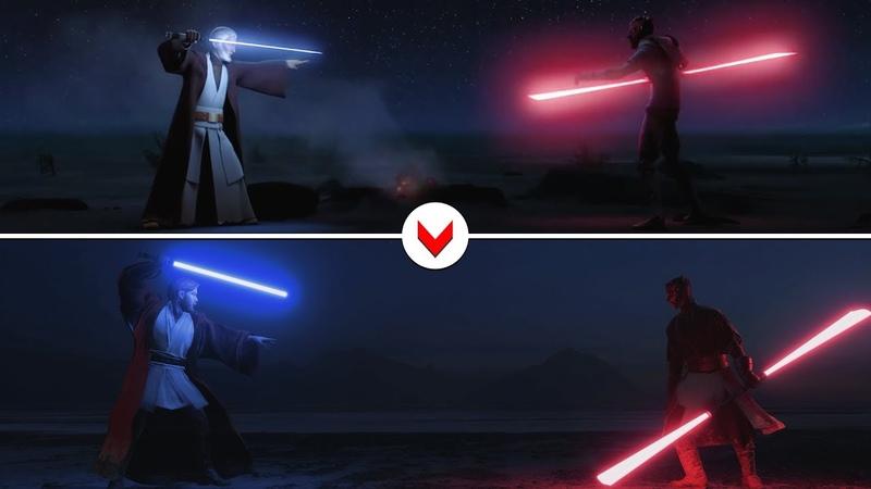 Darth Maul vs Obi Wan [Rebels] Recreated in Battlefront II