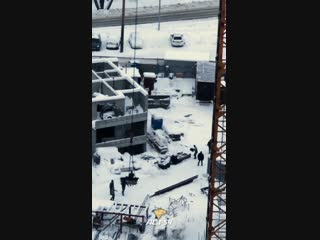 Строитель получил травму в Заельцовском районе
