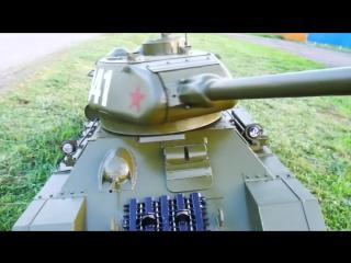Большой радиоуправляемый танк Т34-85 масштаб 1_2.2 конструктор Александр Кузнецов