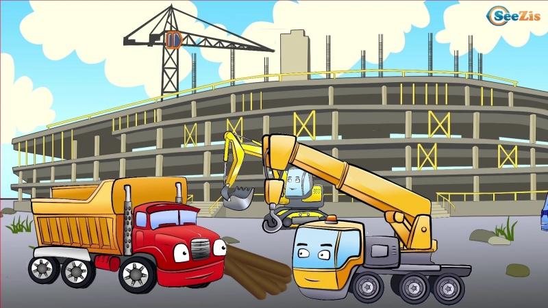 106 Серия Сезон 1 Монстр трак грузовик кран бульдозер