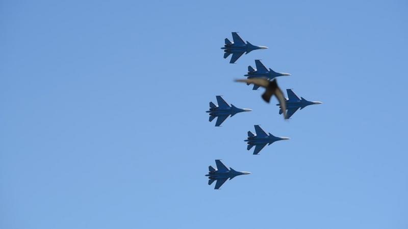 Русские Витязи - групповой пилотаж