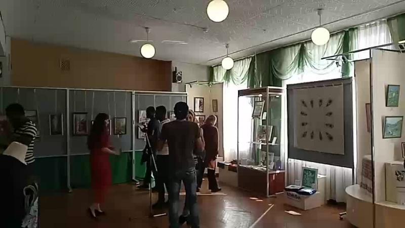 Открытие областной выставки ДПТ Волшебная нить, которая продлится до 25 мая 2018