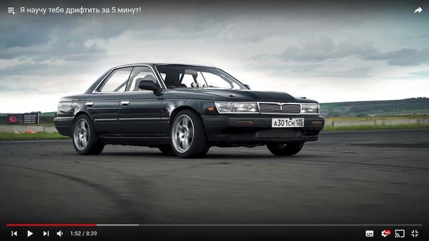 Красивый кадр автомобиля из видео о дрифте