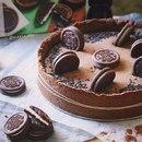 Шоколадно-сливочный пирог