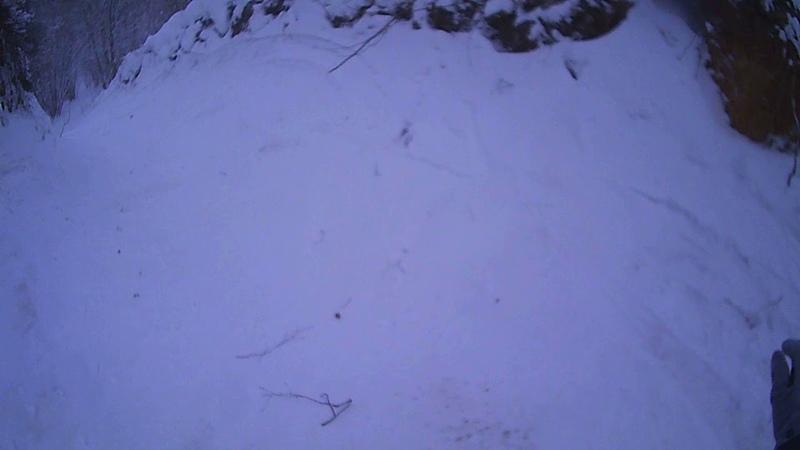Snowboard - черная трасса