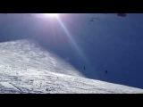 Опасный прыжок на горных лыжах!