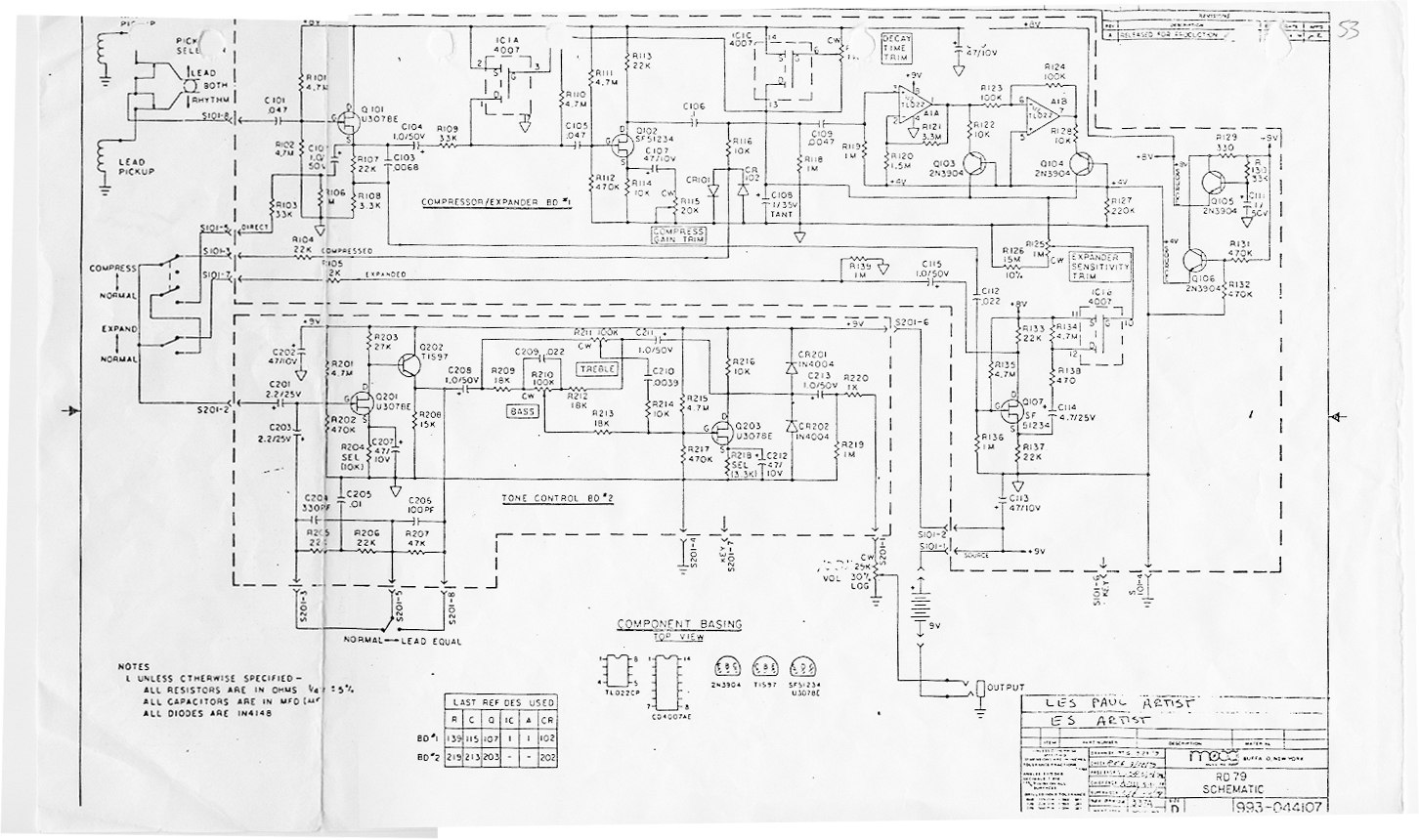 Gibson Es Artist Moog Active Electronics The Gear Page Audio Systems Also 335 Guitar Wiring Diagrams As Well Here You Go