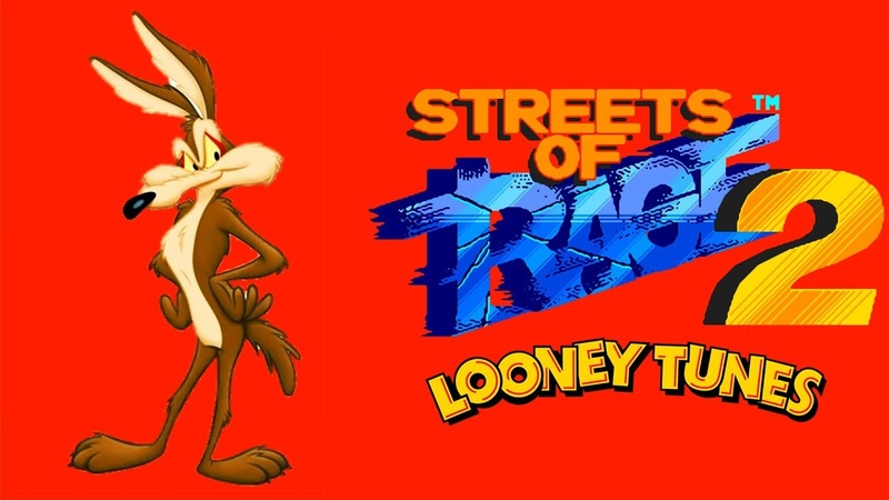 Streets Of Rage 2: Looney Tunes edition - Wile E. Coyote (Sega Mega Drive/Genesis) 60fps