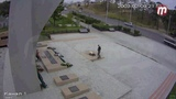 Акт вандализма на мемориале Умершим от ран