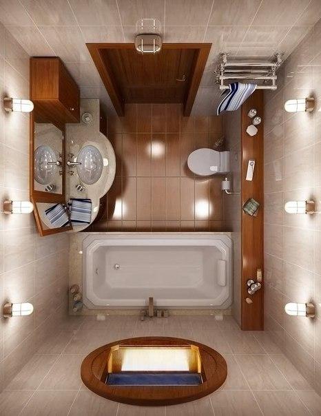 Дизайн ванной комнаты, необычный взгляд