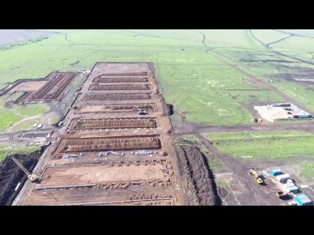 Строительство военного полигона Широкий Лан