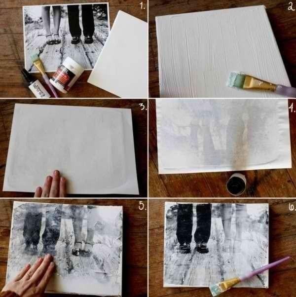 как перенести фото на ткань в домашних условиях