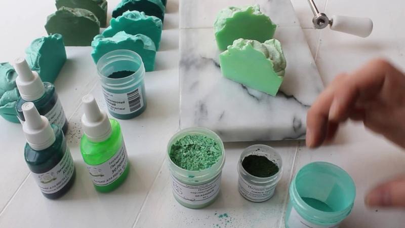 Тестирование зеленых пигментов в мыле с нуля