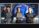 Фанаты Челси на клубном ТВ смотрят в глаза ведущей.