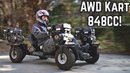 4 Engine AWD Go Kart Revival Hard Launches!