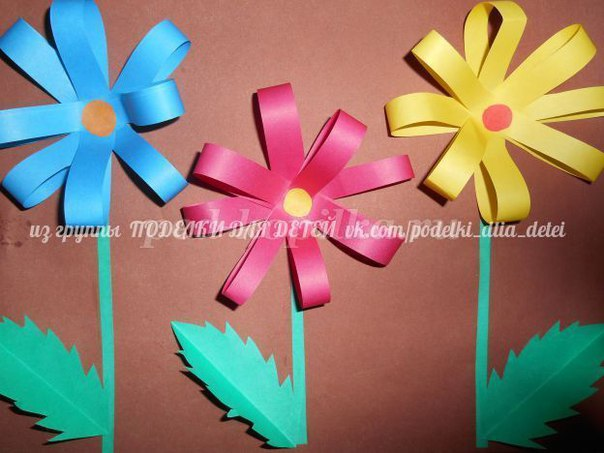 Цветы для мам руками детей