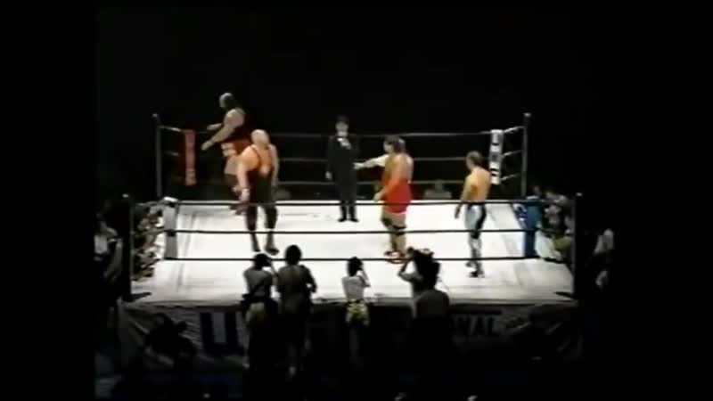 Bushido Albright and Yamazaki Vs Vader and big John part 1