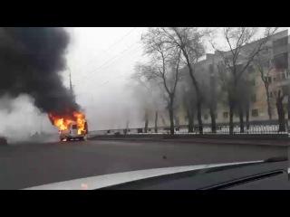 В Волгограде сгорела маршрутка