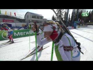 Лучшие моменты. Чемпионат России по биатлону-2014. Женщины. Командная гонка. 6 апреля