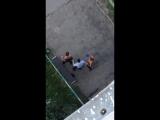 Драка полицейского с пьяными мужчинами в Чебоксарах