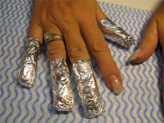 Снимаем акриловые ногти в домашних условиях