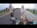 Безумные ситуации мотоциклистов на дороге 2018.