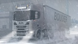 ETS2 1.33 - V8 in a Blizzard Slippery Roads - Frosty Winter Weather w NG Scania R520 - Baltic Sea