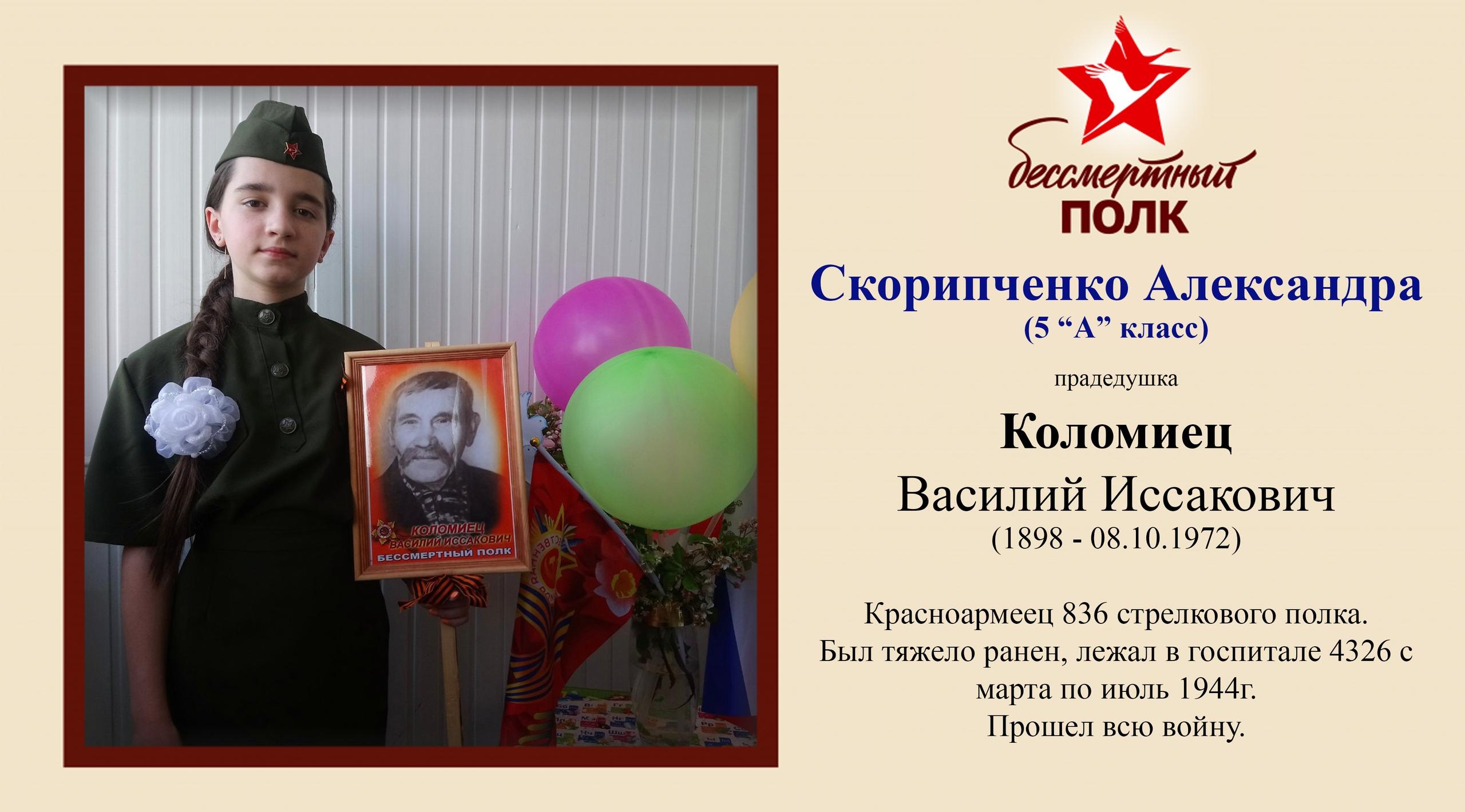 Скорипченко Александра