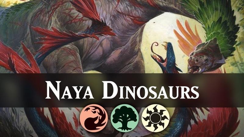Naya Dinosaurs Guilds of Ravnica Standard Deck Guide MTG ARENA