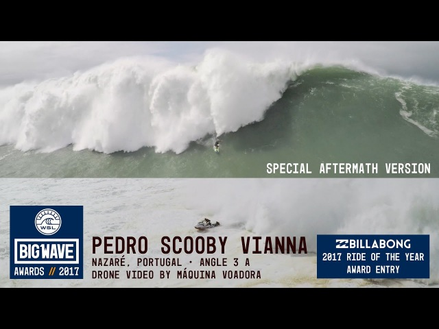 Pedro Scooby at Nazaré - Ride aftermath - 2017 Billabong Ride of the Year Entry - WSL Big Wave