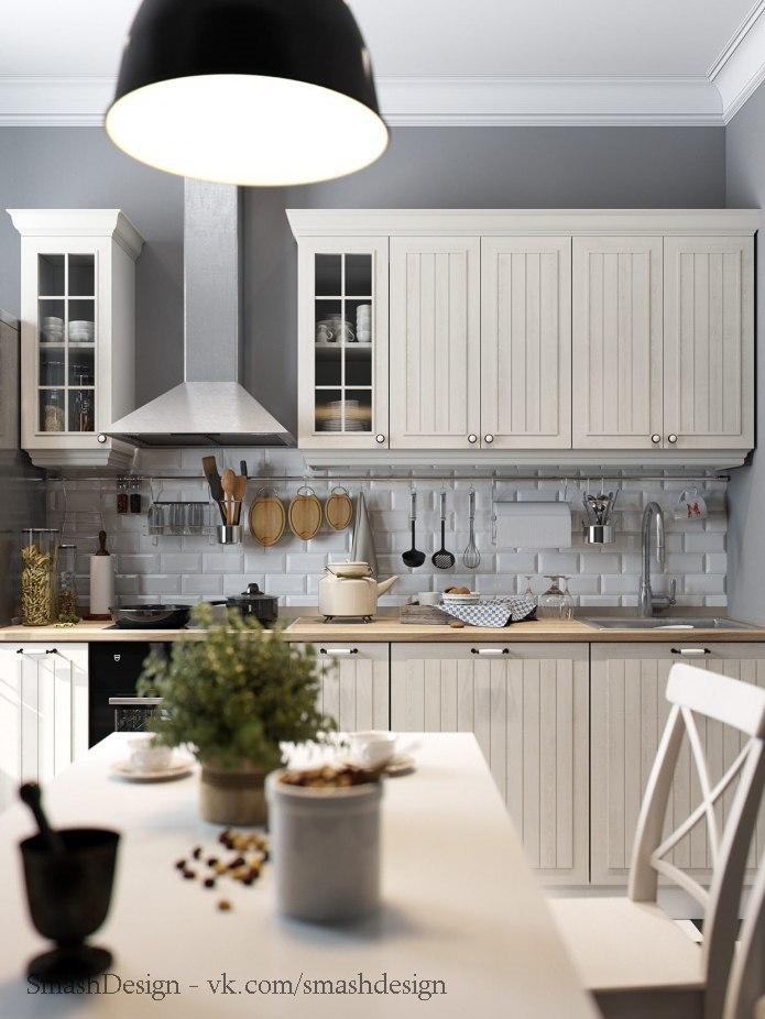 Аскетичная кухня в скандинавском стиле