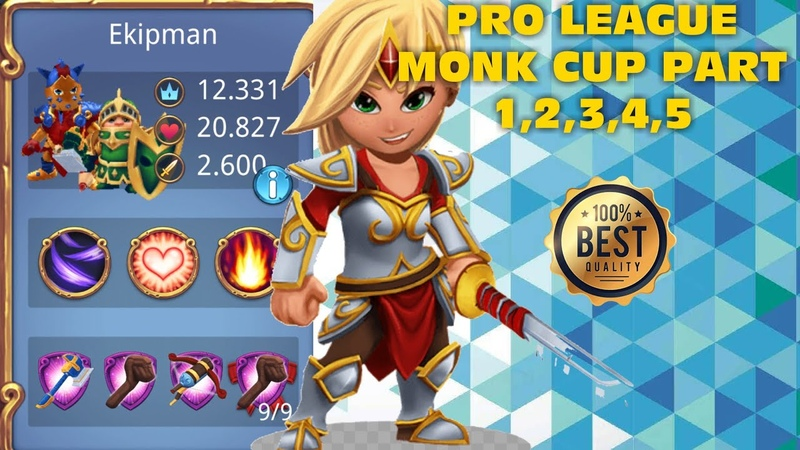Royal Revolt 2 l Pro League Monk Cup Part 1,2,3,4,5