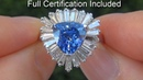 $45 000 Top Gem GIA Certified AAA Quality Cornflower Blue Sapphire Diamond Cocktail Ring A131563