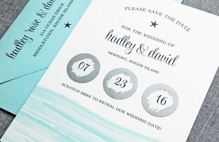 приглашение на свадьбу в виде скретч-лотереи